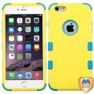 MYBAT Rubberized Yellow/Tropical Teal TUFF Hybrid Phone Protector Cover