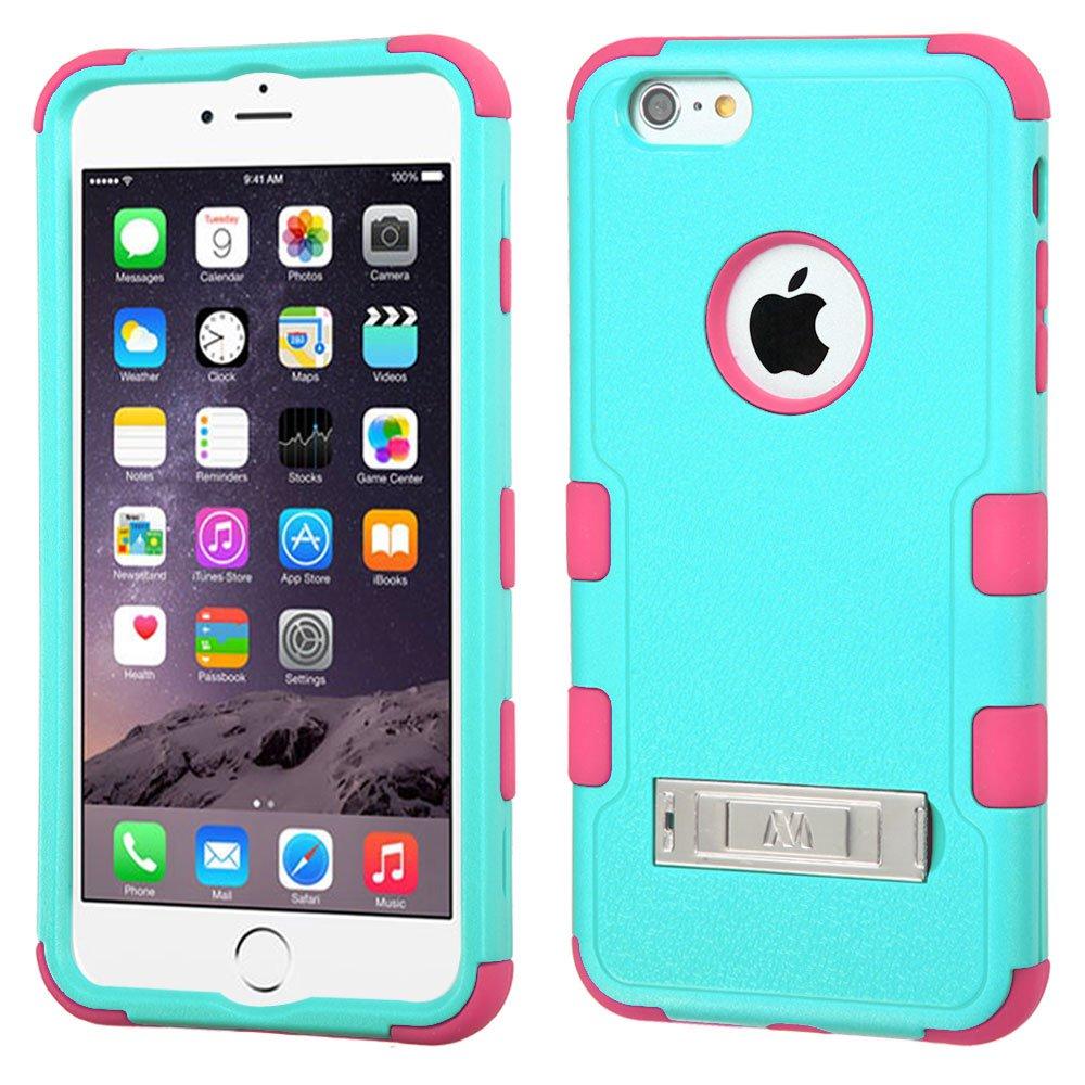MYBAT Natural Teal Green/Electric Pink TUFF Hybrid Phone Protector Cover