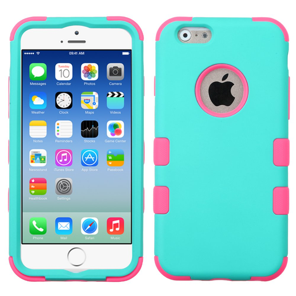 MYBAT Natural Teal Green/Electric Pink TUFF Hybrid Phone Protector Cover