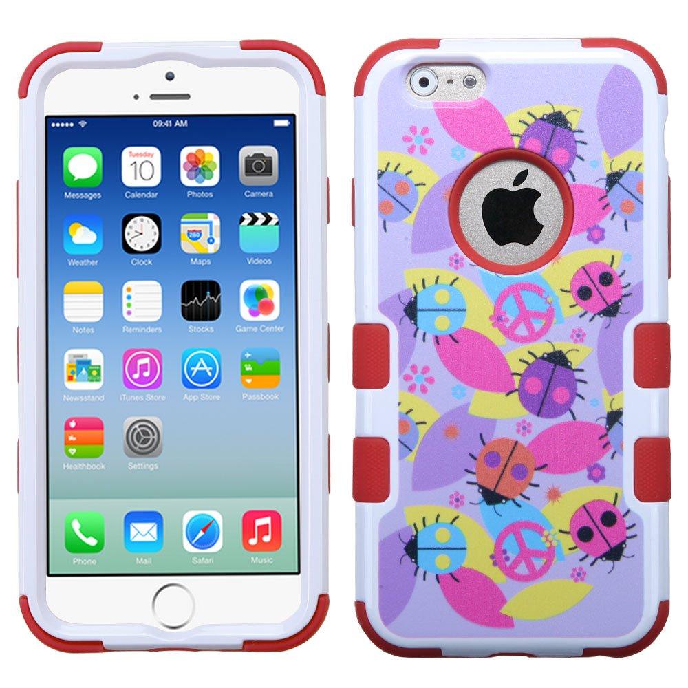 MYBAT Peace Ladybugs/Red TUFF Hybrid Phone Protector Cover