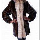 Genuine Mink Shearling Full Sleeves Winter Women Fur Coat