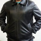 Black Biker Style Leather Motorcycle Jacket XS-6XL