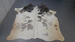 Brazilian White Grey CowHide Rug Unique Natural Real Cow Hide Skin Rug 1012