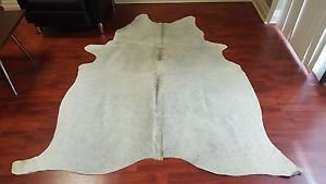 Brazilian Cowhide Rug Almost White Cow Hide Rug 894 HaIr Cow Leather