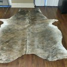New Large Cowhide Rug Brindle Grey Cow Hide Rug Brazilian Cow Rug 898