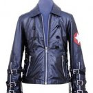 Men's Natural Leather Jacket Fashion Rock Star Genuine Leather Coat