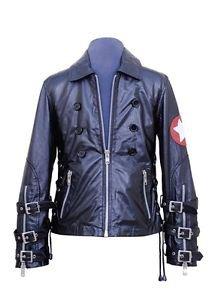 Men's Natural Leather Jacket Fashion Rock Star Genuine Leather Coat