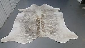 New Cowhide Rug Large Brazilian Cow Hide Rug Grey White Cow Rug 84*70 inch 998