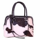 Large Cowhide TOTE purse Handbag Purse Shoulder Bag Cow Hide Leather Hand Bag
