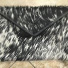 Cowhide Leather Crossbody Chain Genuine Cow Hide Messenger Clutch Bag