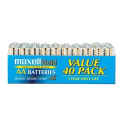 AA Bulk Alkaline Batteries (40 pack)