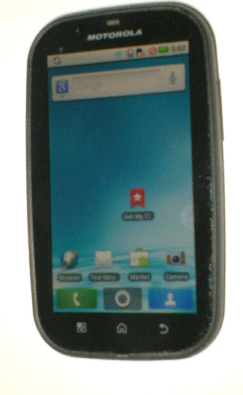 MOTOROLA BRAVO MB520 (Consumer Cellular) Touchscreen Smartphone with USB cable