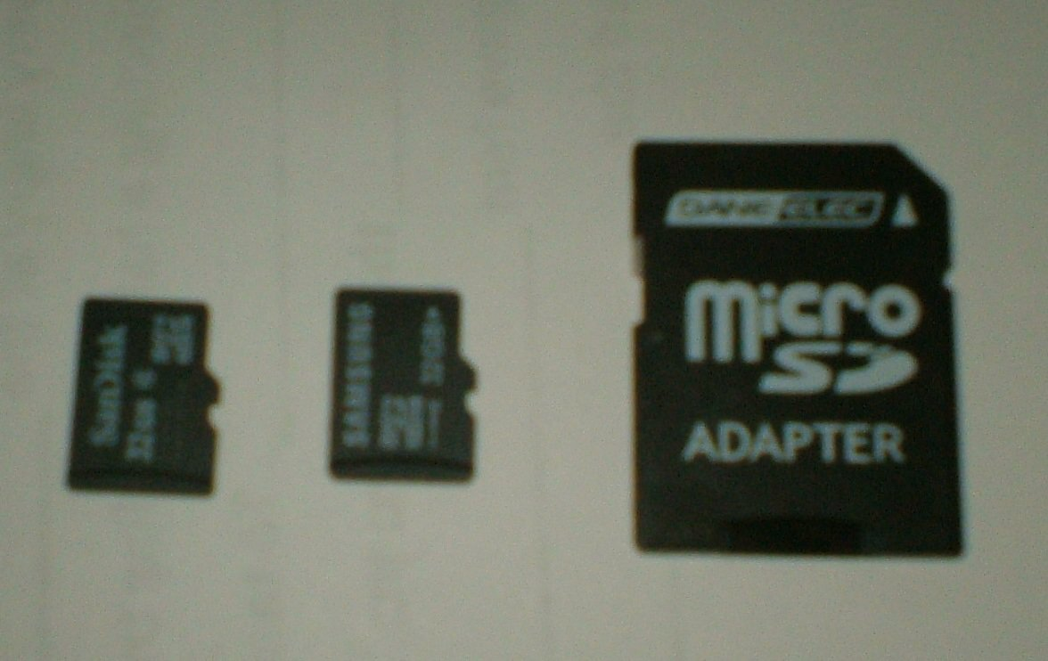 lot of 32GB microSD cards and SD adapter