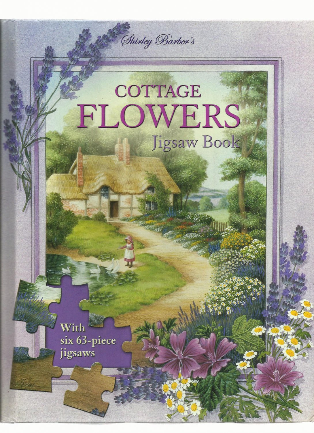 Jigsaw Puzzle Book - COTTAGE FLOWERS JIGSAW BOOK 2003 Unused