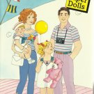 Vintage Childrens Paper Doll Book - FAMILY FUN 1989
