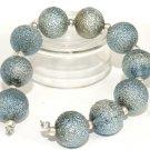 Lampwork Round Silver Powder beads (10) SRA - DIY Jewelry - Jewelry Supplies - Handmade Beads