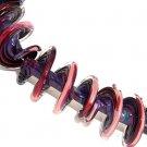 Lampwork Purple Spiral Beads (5) SRA - DIY Jewelry - Jewelry Supplies