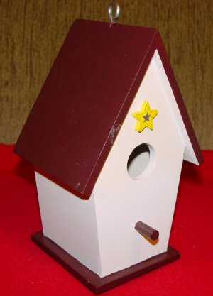 BIRDHOUSE COTTAGE - Hand Painted  #1