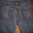 7 Seven For All Mankind Pink A Pocket Sz 25
