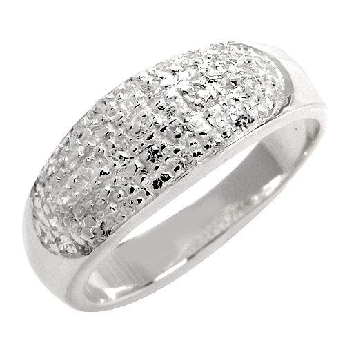 Sterling Silver Ring with 1.30 total ctw CZ Size 6