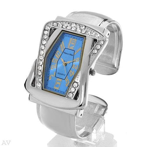 Marco Max Ladies Cuff Watch with Brilliant Blue Face