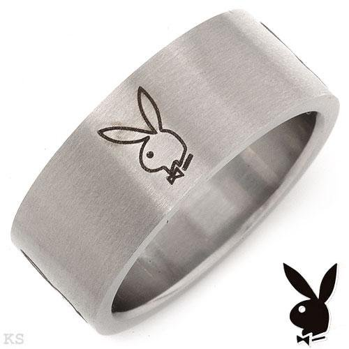 PLAYBOY Men's Band Ring made of Stainless Steel