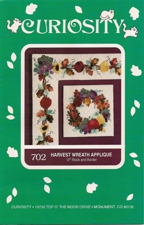 Harvest Wreath Applique by Curiosity