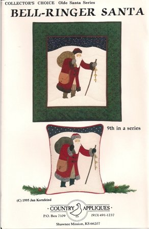 Bell-Ringer Santa Quilting Pattern 9th in a series