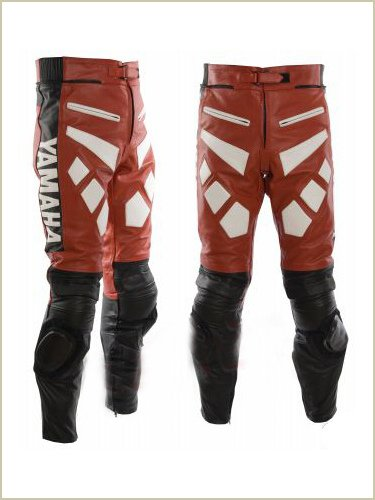 Yamaha Red Leather Racing Trousers