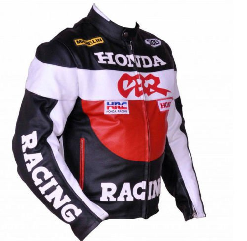 Honda CBR Motorcycle Leather Racing Jacket