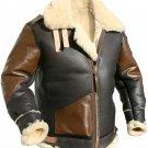 B3 Bomber Shearling Sheepskin Flight Leather Jacket | Aviator Style Sheepskin Flying Leather Jacket