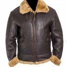 Aviator RAF B3 Bomber Ginger Shearling Sheepskin | Flight Sheepskin Shearling Leather Jacket