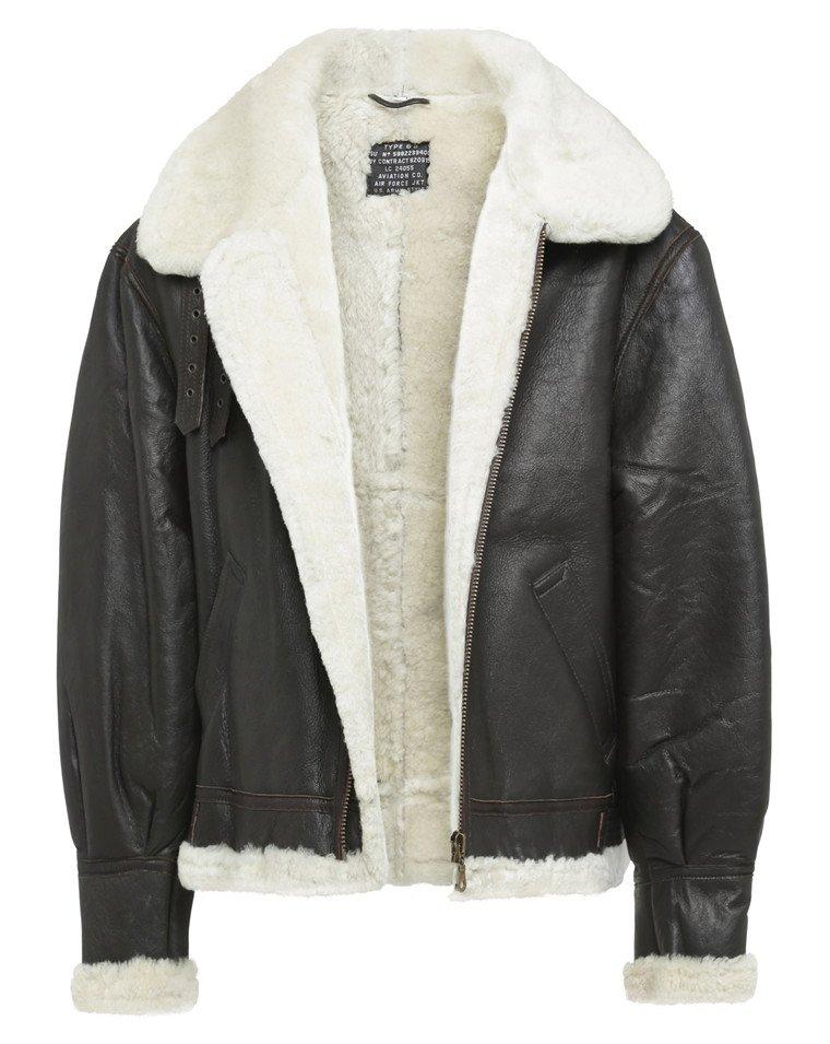 B3 Bomber Leather Jacket | Sheepskin Flight Leather Jacket | Aviator Bomber Sheepskin Leather Jacket