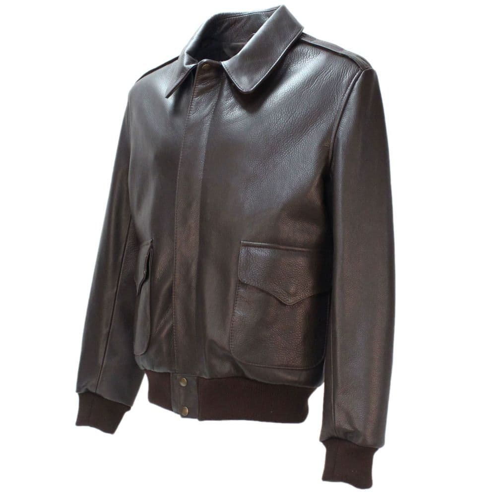 Bomber B3 Memphis Belle A2 Flight   Bomber B3 Aviator Brown Leather   Sheepskin Leather Jacket