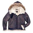 B3 Bomber Jacket Sheepskin Leather Jacket | Flight Jacket with Hood | Aviator Jacket Bomber Style