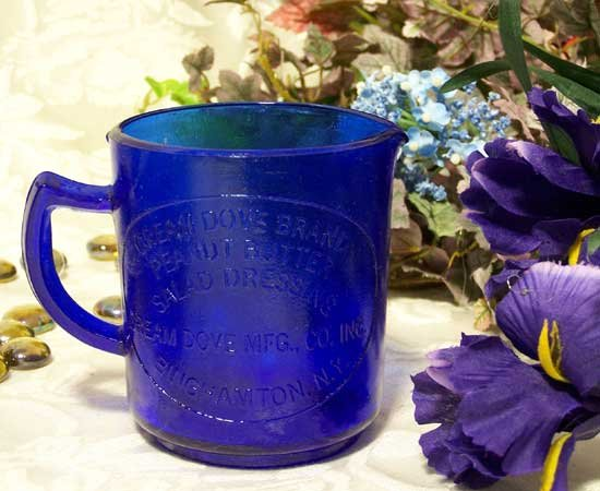 Dove Brand Cobalt Blue Glass Measuring Cup - 16306