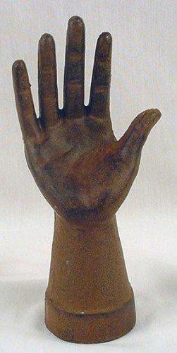 Hand Ring/Jewelry Display Holder Rust Cast Iron Set of 2 - 05636