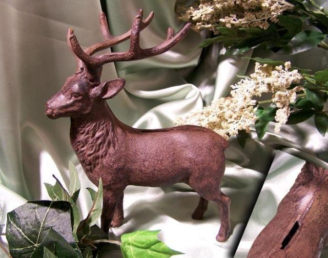 Cast Iron Buck Deer Bank Figurine RUST - 04631