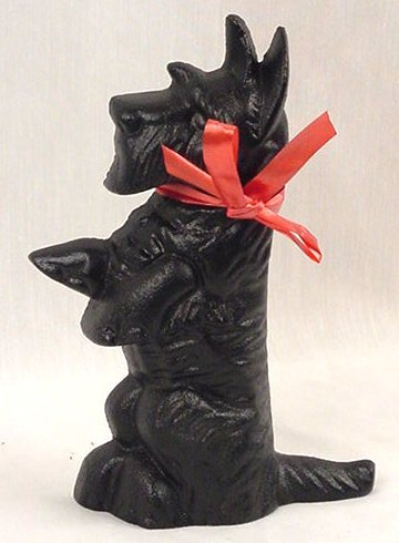 Cast Iron Doorstop Scottie Dog /Scottish Terrier - 13045