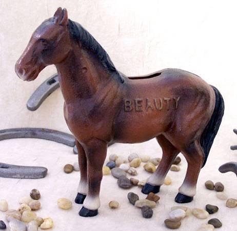 Cast Iron Horse Bank Beauty - 04648