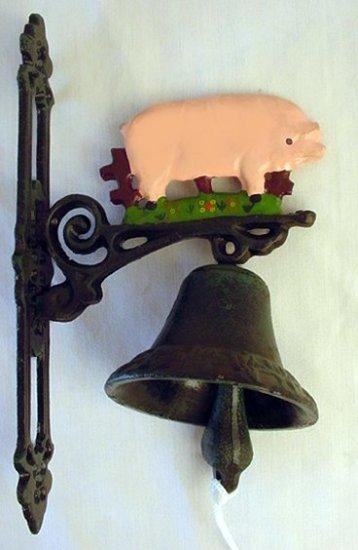Cast Iron Pig Dinner Bell - 13604