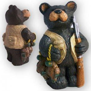 Rustic Northwood Hunting Lodge Cabin Bear Bank - 24121