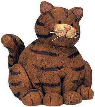 Fat Cat Tiger Striped Money Coin Bank -080809
