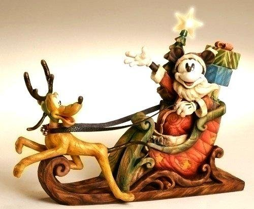 Disney Mickey & Pluto Sleigh - LIGHTED - 39766