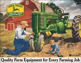 Tin Sign John Deere - Every Farming Job Tractor - 1232