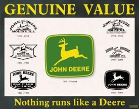 TIN SIGN John Deere Historical Logos Farm Tractors -868