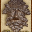 Leaf Man Wall Hanger Cast Iron Rusty - 05631