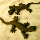 Set of 2 Cast Iron Gecko Figurines - 04105