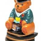 Mini Doorstop Cast Iron Painted Graduation Bear - 13170G - 4