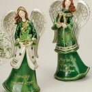 Porcelain Irish Angels Set/2 w/Shamrock Horseshoe - 42362 - 6